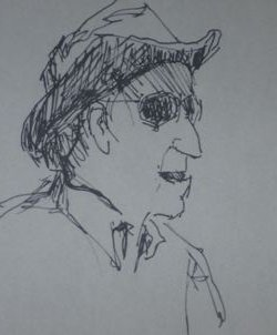 Image: Carricature of Hanns Skoutajan, by the author.