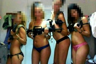 Female Israeli soldiers pose in underwear - Facebook image
