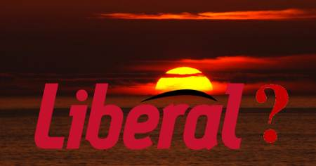 Sunrise or sunset for the Liberal Party of Canada? Photo-illustration by Geoffrey Dow.