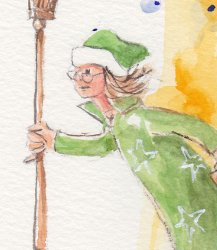 Granny Witch image, detail.