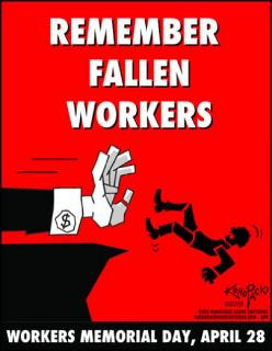 Remember Fallen Workers poster