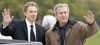 Blair and Bush, the twins of war in 2003