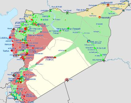 Image: Syria_location_map2.svg: User:NordNordWest File:2011 Libyan Civil War.png: User:Spesh531 via Wikimedia Commons