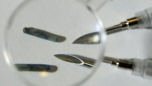 Image: Photo of RFID computer chips.