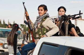 Photo: Women like these in Derik play a key role in the Kurds revolution in Syria. Credit: Giulio Petrocco/IPS.