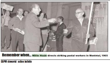 Photo: Willie Houle directs striking postal workers in Montreal, 1965.