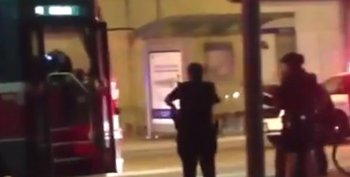 Video screenshot: Shooting of Sammy Yatim