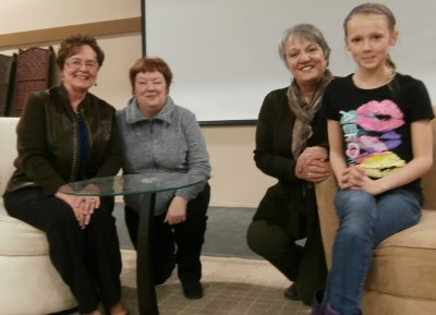 Image: Sharing a moment with the hosts... Alberte, Pierrette Boisvert, Lise Landel, and Lea.
