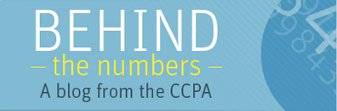 Image: Behind the Numbers blog logo, via CCPA.