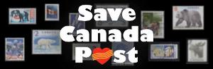 Image: Save Canada Post Banner. Click to sign petition