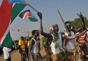Traditional dancers during celebrations to mark South Sudan's first anniversary of independence on Jul. 9, 2012 in Juba. However, journalists say the government has stifled freedom of the media. Credit: Charlton Doki/IPS